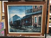 Sale 8789 - Lot 2099 - Vintage Russell Drsydale Decorative Print, 63 x 73cm (frame)