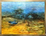 Sale 8797 - Lot 2041 - Greg Bridges - Birth of a Knight oil on board, 98.5 x 129cm, signed