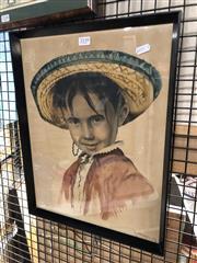 Sale 8816 - Lot 2098 - Artist Unknown - Young Boy, watercolour, SLR