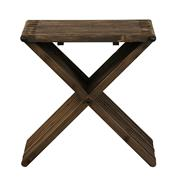 Sale 8957T - Lot 46 - A modern take on a classic Mid century design. Pair of side table made from reclaimed Solid Elm the top consists of interlocked slat...