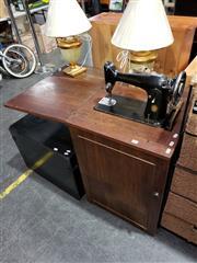 Sale 8988 - Lot 1074 - Cased Singer Sewing Machine (H:78 W:53 D:42cm)