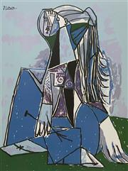 Sale 9080A - Lot 5048 - Pablo Picasso (1881 - 1973) - The Thinker 60 x 45 cm (sheet: 66 x 51 cm)