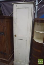 Sale 8390 - Lot 1253 - White Painted Timber Linen Press