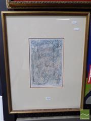 Sale 8407T - Lot 2018 - Clem Millward, Hillside, mixed media on paper, 25 x 16.5cm, signed lower right