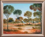Sale 8415 - Lot 553 - Kevin Charles (Pro) Hart (1928 - 2006) - The Trappers 54.5 x 70cm