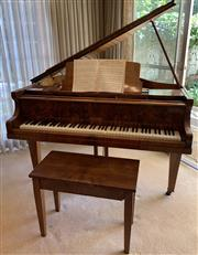 Sale 8510A - Lot 19 - A Conover baby grand piano in veneered walnut together with seat and music, H x 95cm, W x 141cm, D x 133cm