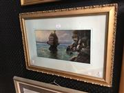 Sale 8726 - Lot 2053 - Lewis Frank - Mangevoa New Zealand, oil on board, 40 x 60cm (frame size), signed lower left