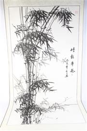 Sale 8802 - Lot 138 - Chinese Scroll Featuring Bamboo