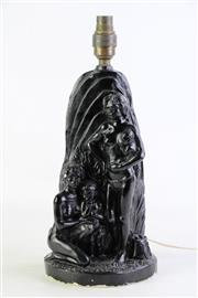 Sale 8860 - Lot 63 - A Barsony Style Figural Table Lamp, H39cm