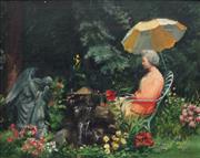Sale 8892 - Lot 574 - Jean Leason Hitch (1918 - 2015) - My Mother 59 x 74.5 cm