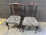 Sale 9051 - Lot 1097 - Pair of Hepplewhite Style Dining Chairs (h:93 x w:53 x d:42cm)