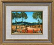 Sale 8415 - Lot 524 - Kevin Charles (Pro) Hart (1928 - 2006) - Sheep yard 13.5 x 19cm