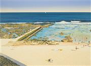 Sale 8522 - Lot 2003 - John Earle (1955 - ) - Bar Beach, 1988 50.5 x 69.5cm
