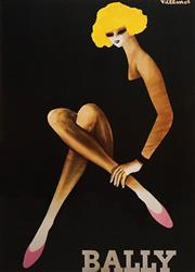 Sale 8666A - Lot 5047 - Bernard Villemot (1911 - 1989) - Bally Girl 93 x 67cm (frame size: 123 x 98cm)