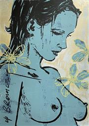 Sale 8756A - Lot 5016 - David Bromley (1960 - ) - Romy with Flowers 110 x 75cm