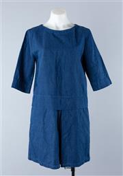 Sale 8800F - Lot 16 - An APC cotton/linen blend denim tunic dress, size s