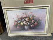 Sale 9072 - Lot 2074 - P Keeling Still Life - Pink Flower  acrylic, 75 x 105cm