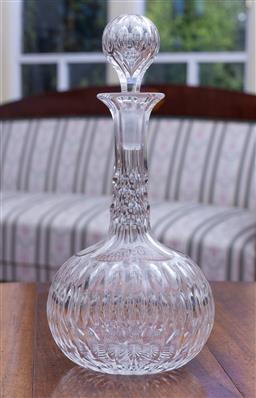 Sale 9190H - Lot 83 - A good quality antique hand cut lead crystal decanter C: 1880s, Height 30cm