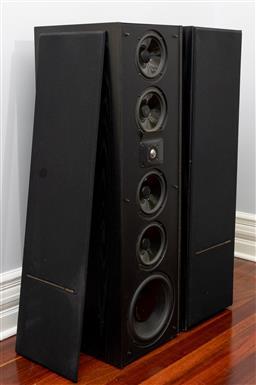 Sale 9256H - Lot 47 - A pair of Polk Audio real time array loud speakers 15TL, H 110cm x W 31.5cm x D 39cm.