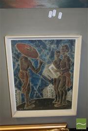 Sale 8497 - Lot 2058 - Sylvia Freedmand Musicians, colour linocut, 34 x 27, signed lower left