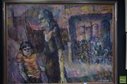 Sale 8552 - Lot 2050 - Natasha Kosinzev Untitled, 1963 (The Ghettos), oil on board, 91 x 122cm, signed and dated lower right
