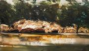Sale 8597 - Lot 567 - Geoffrey Dyer (1947 - ) - Koonya Bluff 122 x 213.5cm