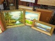 Sale 8663 - Lot 2138 - 3 Artworks - Landscapes