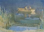 Sale 8870A - Lot 514 - John Samuel Loxton (1903 - 1969) - Lunch on the Water 26 x 35 cm