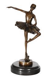 Sale 9034A - Lot 5080 - Ballerina, bronze sculpture on marble base after Milo, H 26 cm