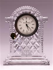 Sale 9081 - Lot 77 - A Waterford Crystal Clock (H18.5cm)