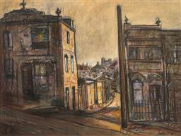 Sale 9252A - Lot 5055 - DESIDERIUS ORBAN ( 1884 - 1986) Street Scene pastel 53 x 70 cm (frame: 84 x 99 x 5 cm) signed lower right
