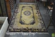 Sale 8337 - Lot 1016 - Oriental Carpet with Bird Designs on Gold Field (140 x 146cm)
