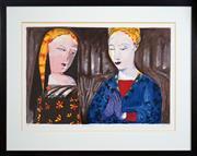 Sale 8443 - Lot 516 - Charles Blackman (1928 - ) - Tuscan Sonnet 47 x 71cm