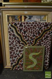Sale 8464 - Lot 2056 - Group of Assorted Original Artworks incl. Aboriginal Art and Hong Kong Street Scenes (various sizes/framed)