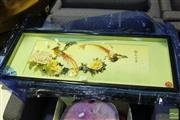 Sale 8499 - Lot 1039 - Framed Chinese Artwork
