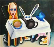 Sale 8609A - Lot 5015 - Charles Blackman (1928 - 2018) - Feet Beneath the Table 66 x 76cm
