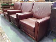 Sale 8601 - Lot 1164 - Leather Upholstered Armchairs