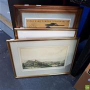 Sale 8636 - Lot 2076 - 3 Works: Popeye the Sailor Poster in Frame with 2 Other Framed Pictures