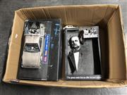 Sale 8789 - Lot 2322 - Box of Toy Models incl Batman: The Dark Knight a/f, The Delorean in Back to the Future, Marlon Brando in The Godfather & 2 Cars