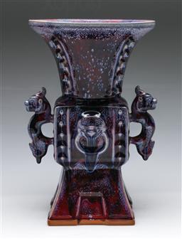 Sale 9156 - Lot 38 - A large Junyao glazed Chinese vase H: 32cm