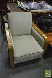 Sale 8350 - Lot 1050 - Pair of Maple Art Deco Armchairs