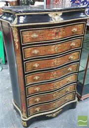 Sale 8375 - Lot 1001 - Boulle Style Bureau Abattant with Marble Top (key in office)