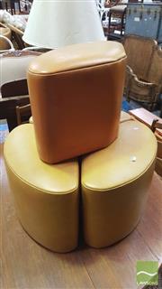 Sale 8390 - Lot 1577 - Set of 4 Vinyl Stools