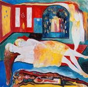 Sale 8434 - Lot 532 - Alex Rantzos (XX) (3 works) - The Three Lovers; Dreamscapes 121.5 x 121.5cm (2); 117 x 137cm