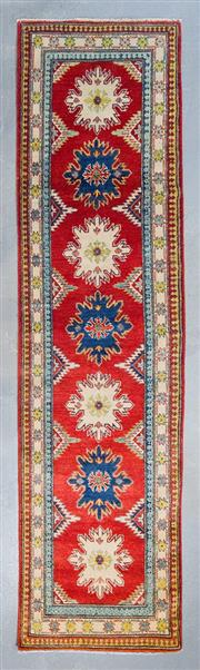 Sale 8480C - Lot 93 - Afghan Kazak Runner 312cm x 80cm