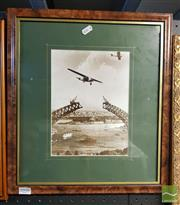 Sale 8544 - Lot 2048 - Framed Photograph of The Sydney Harbour Bridge 1929
