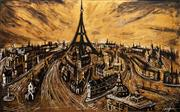 Sale 8597 - Lot 568 - Mark Hanham (1978 - ) - Paris 166.5 x 273cm