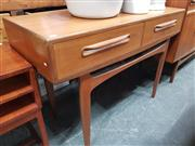 Sale 8839 - Lot 1040 - G-Plan Console Table with Two Drawers