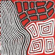 Sale 8743 - Lot 560 - Warlimpirrnga, Walala & Thomas Tjapaltjarri (c1958 - ) (c1960 - ) (c1964 - ) - Tingari 40 x 40cm (framed and ready to hang)