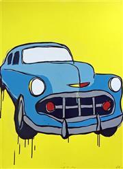 Sale 8752A - Lot 5020 - Jasper Knight (1978 - ) - Light Blue Chevy, 2017 101.5 x 76.5cm